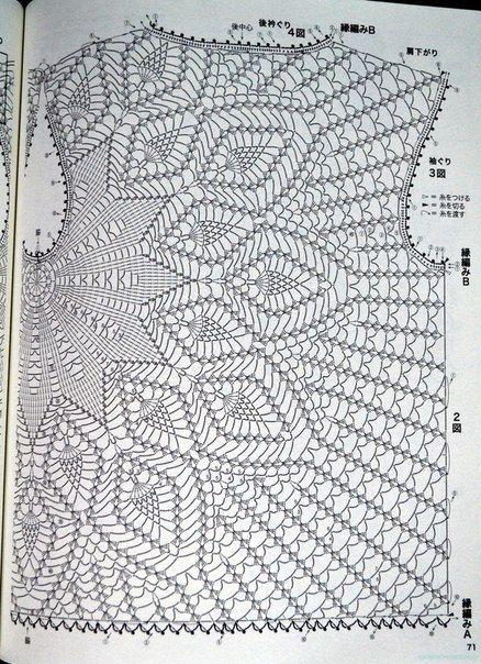 вязание онлайн кофточка 103 Uncinetto Da Indossare Crochet