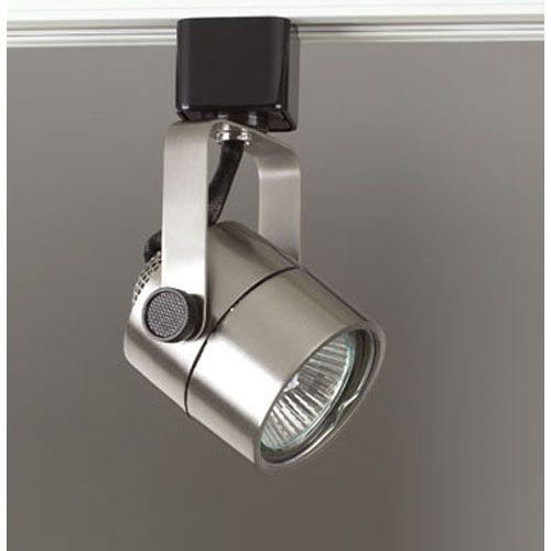plc lighting slick one light satin nickel track fixture lights and