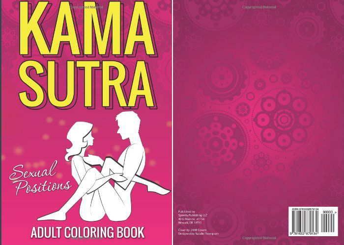 Kama Sutra Sexual Positions Adult Coloring Book