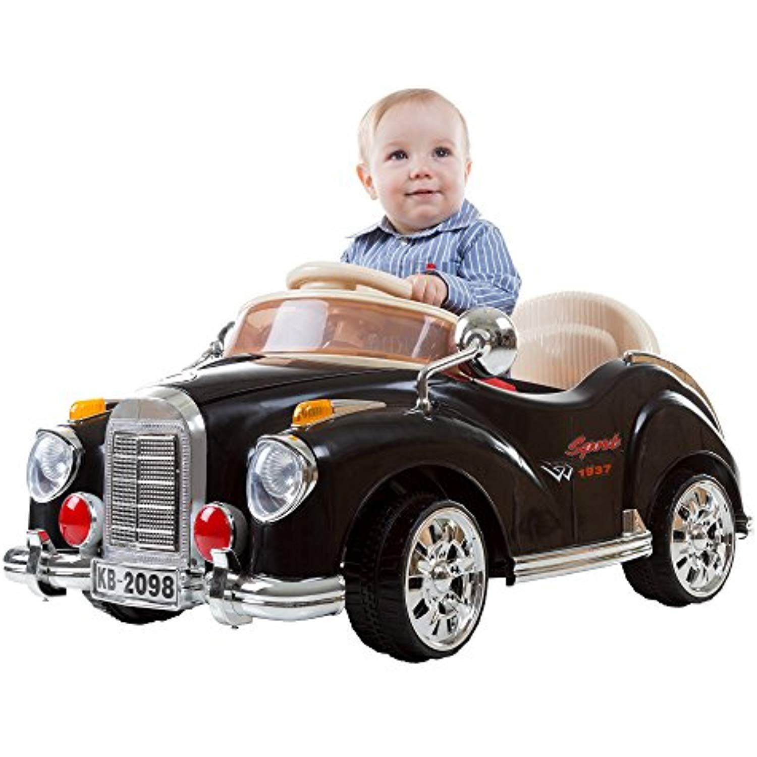Ride On Toy Car, Battery Powered Classic Car Coupe With