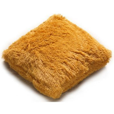 Kashi Home PV Fur Decorative Throw Pillow Color: Gold