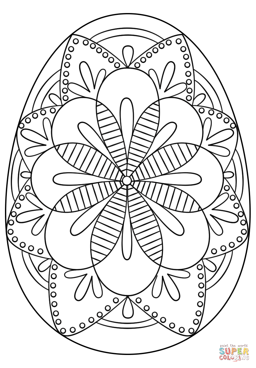 Intricate Easter Egg Super Coloring Húsvét Pinterest