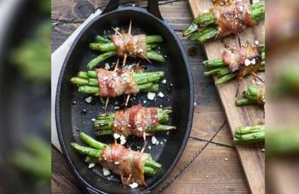 Grilled Bacon Wrapped French Beans!  Do you want to add taste to your vegetables? We've got you covered with this delicious grilled Bacon wrapped french beans.