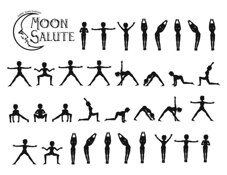 Resultado de imagen para saludo a la luna yoga integral