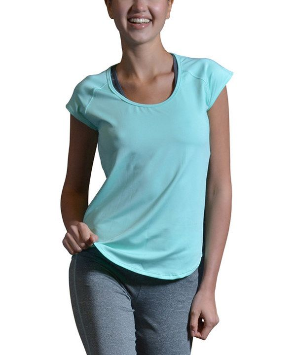 Look at this S2 Sportswear Mint Open-Back Tee on #zulily today!