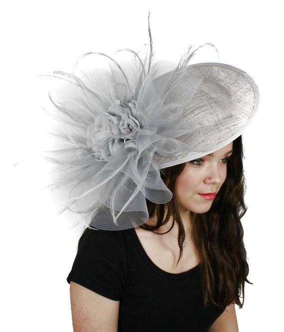 a455c5ca Magdalena Grey Fascinator Hat for Weddings, Races, and Special ...
