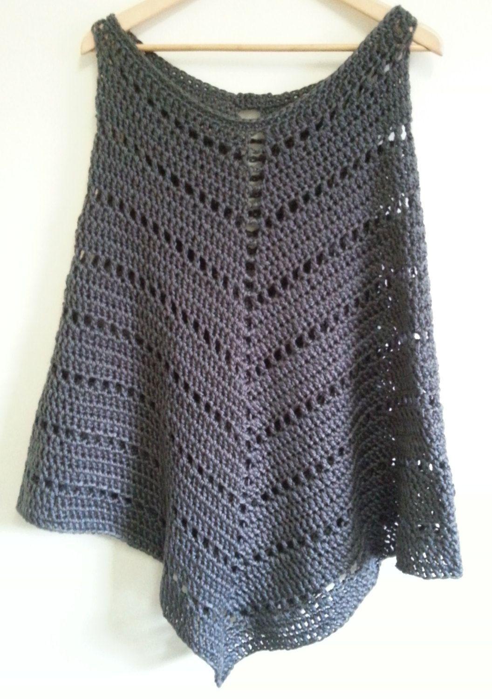 PDF pattern, Crochet, Chunky Poncho | Pinterest | Wolle und Häkeln