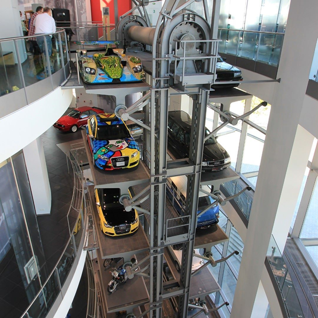 The CARousel at the Audi Museum and factory in Ingolstadt
