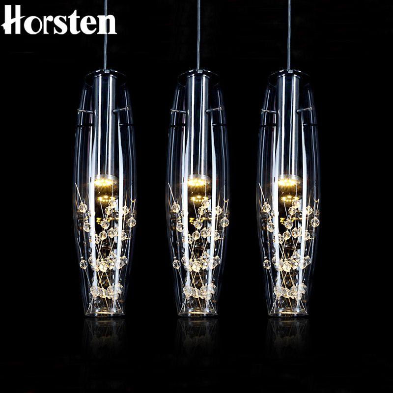 Pas cher Horsten Européenne Cristal LED Lampes Suspendues Moderne - lustres salle a manger