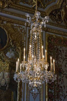 Perfect for the setting of a Downton Abbey Drawing Room ... Awesome French Chandelier from Paris Atelier *.¸.*.♥ *.¸.*.
