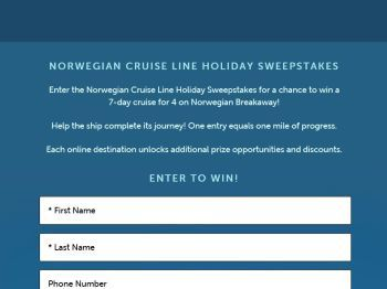 Holiday sweepstakes and giveaways