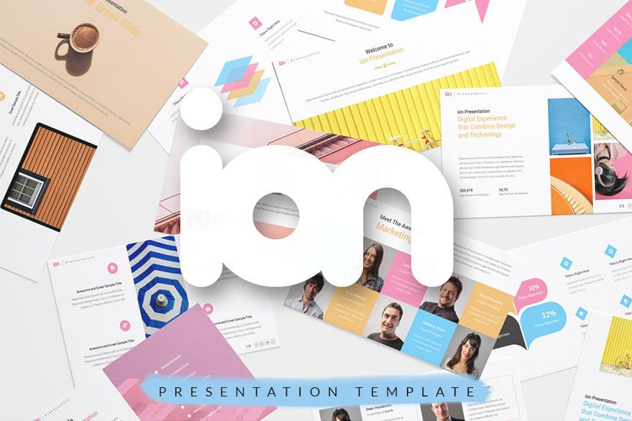 ion Creative Keynote Templatepresentation design  presentation layout  presentation  presentation board design  presentation template