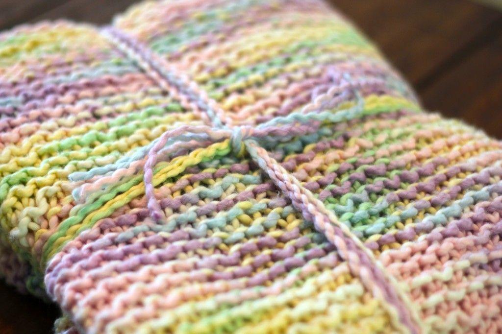 Variegated Yarn Baby Blanket Variegated yarn, Pinterest