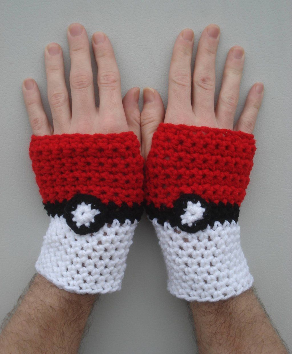 Pokeball Fingerless Gloves by =xREBEL666x on deviantART | My Crafts ...