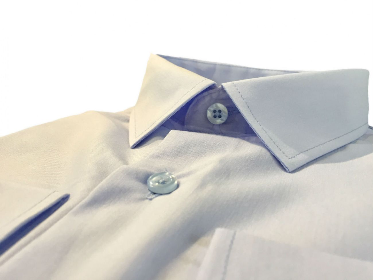 Купить Мужская приталенная рубашка голубого цвета в интернет магазине мужской одежды OTOKODESIGN