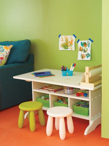 Upgrade Your Starter Home Craft Tables With Storage Kids Art