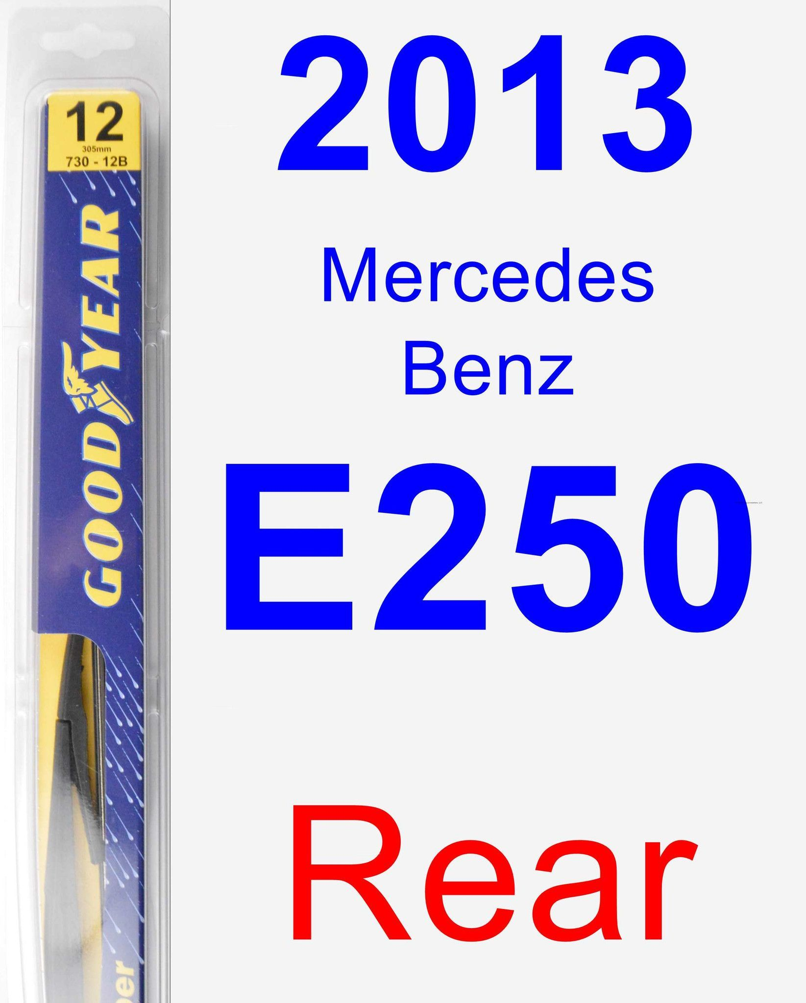 Rear Wiper Blade For 2013 Mercedes-Benz E250