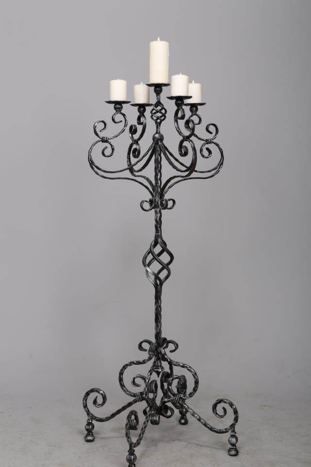 Candelabra Hand Made By Alive Metal Bulgaria Wrought Iron Candle