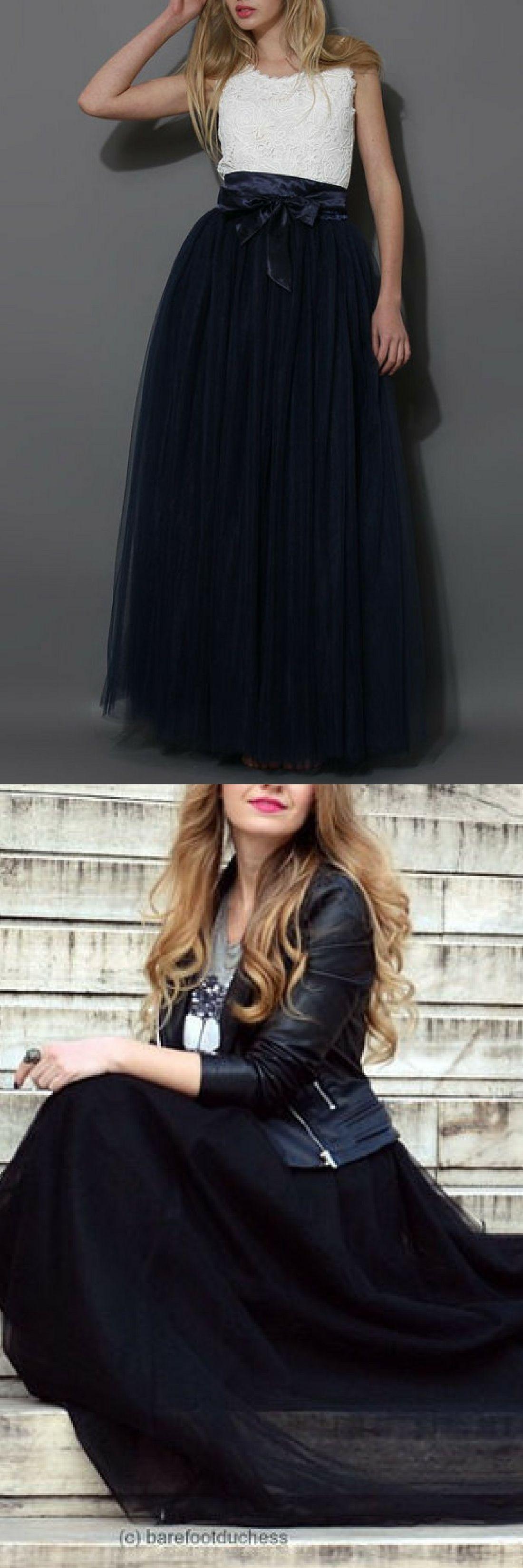 Black tulle skirt adult tutu skirt flower girl tutu long black mesh