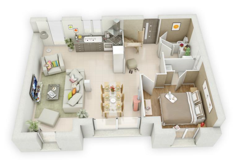 Mikit Isalie rez-de-chaussée | plans intérieurs | Pinterest | Rez de ...