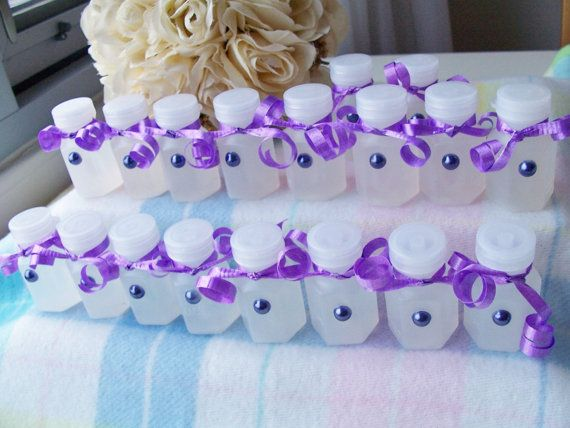 18 Soft Purple Wedding Favour Bubbles With Ribbons And Pearls By Sparkle Comfort 14 00