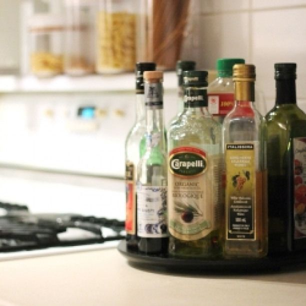 oil vinegar lazy susan add some organization to your countertop with this easy oil and on kitchen organization oil and vinegar id=81138