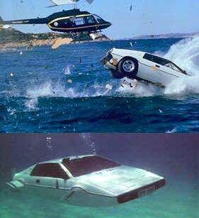 My all-time favorite James Bond vehicle, the Lotus Esprit Submarine!