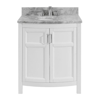 Allen Roth Moravia 30 In White Single Sink Bathroom Vanity With