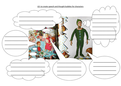 traction man comic strip template  Traction man thought bubbles.docx   Traction man, Supertato ...