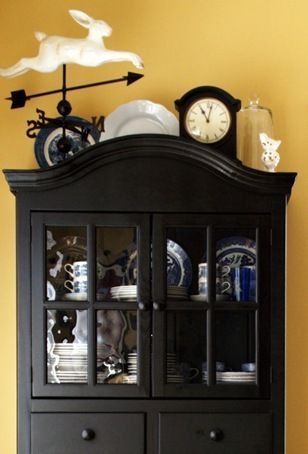 Parade Of Cabinet China Cabinet Decor Top Of Cabinet