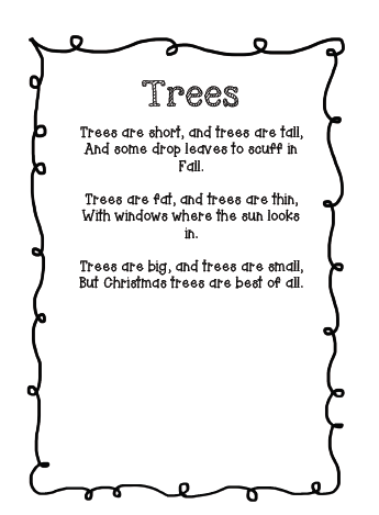 The Very Busy Classroom: Free Poem about Christmas Trees - The Very Busy Classroom: Free Poem About Christmas Trees Tree