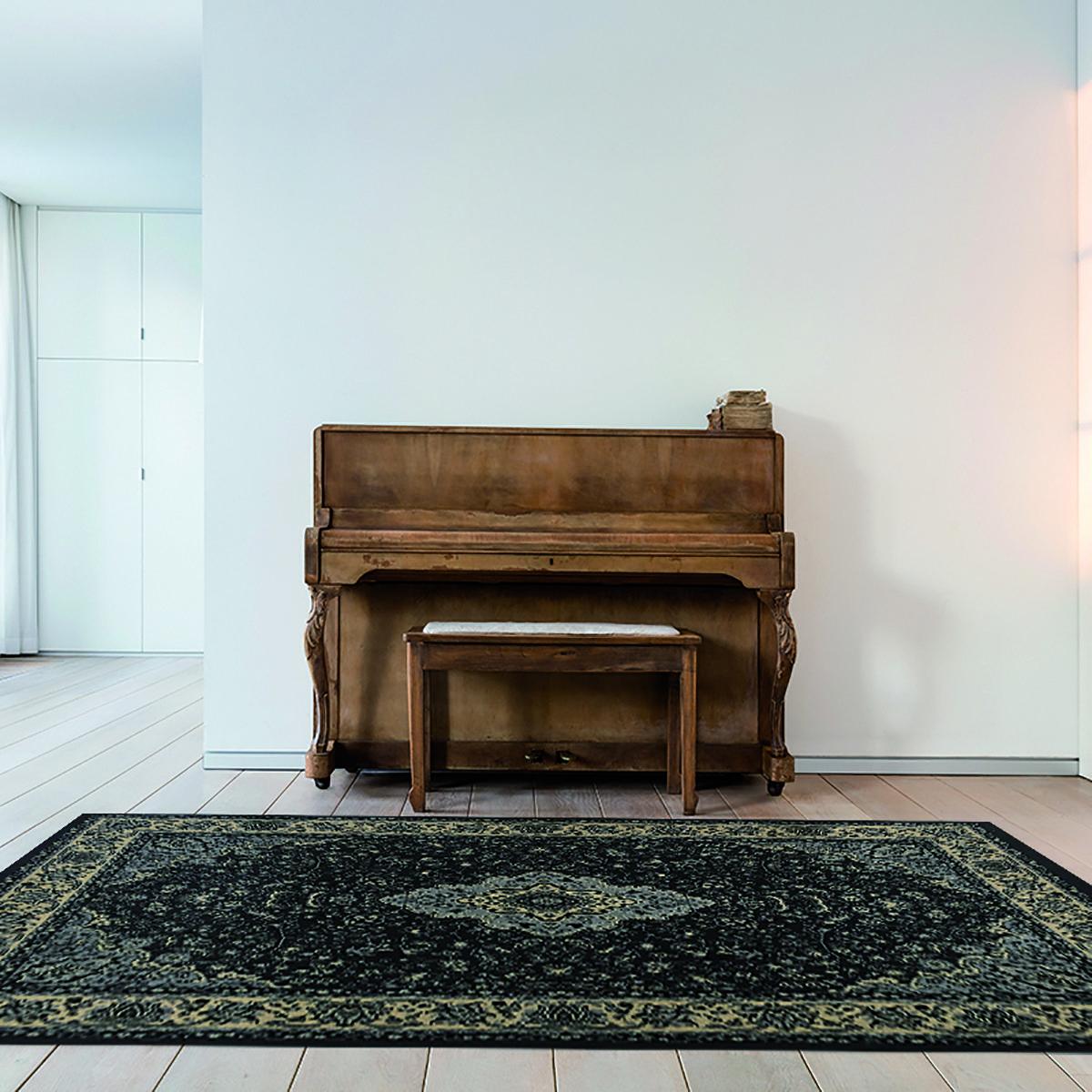 Tappeto persiano Bechir 305E grigio 133x190 cm