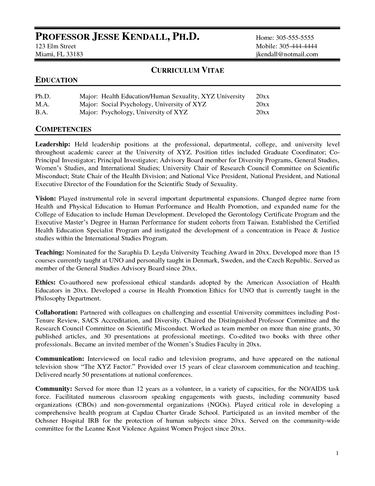 Resume Format For Zoology Lecturer Resume Format College