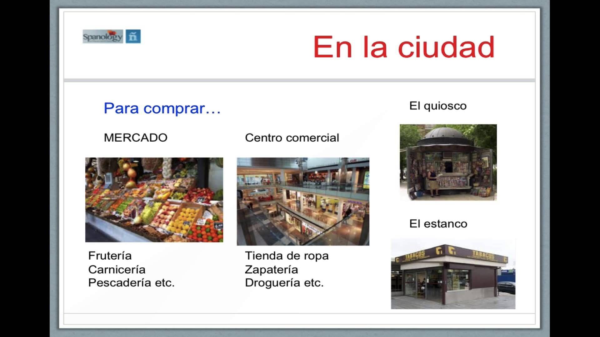 Vocabulario De La Ciudad Edificios Servicios Etc