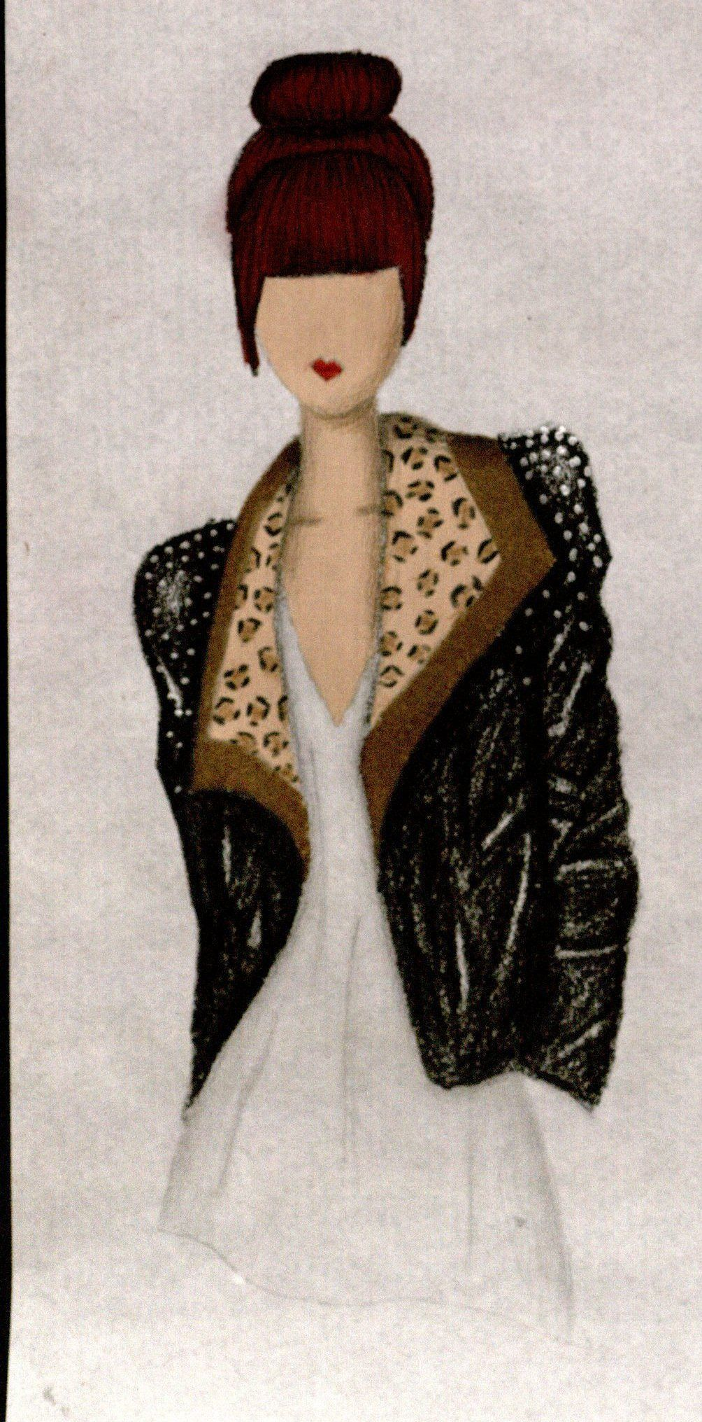 leather jacket with leopard and studs