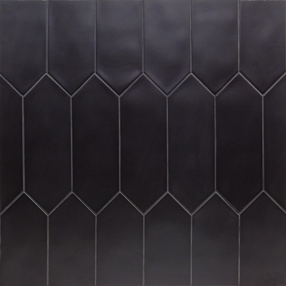 Ivy Hill Tile Russell Black 4 In X 12 In Matte Porcelain Floor And Wall Tile 10 76 Sq Ft Case Ext3rd101544 The Home Depot In 2020 Modern Floor Tiles Black Tile Bathrooms Ivy Hill Tile
