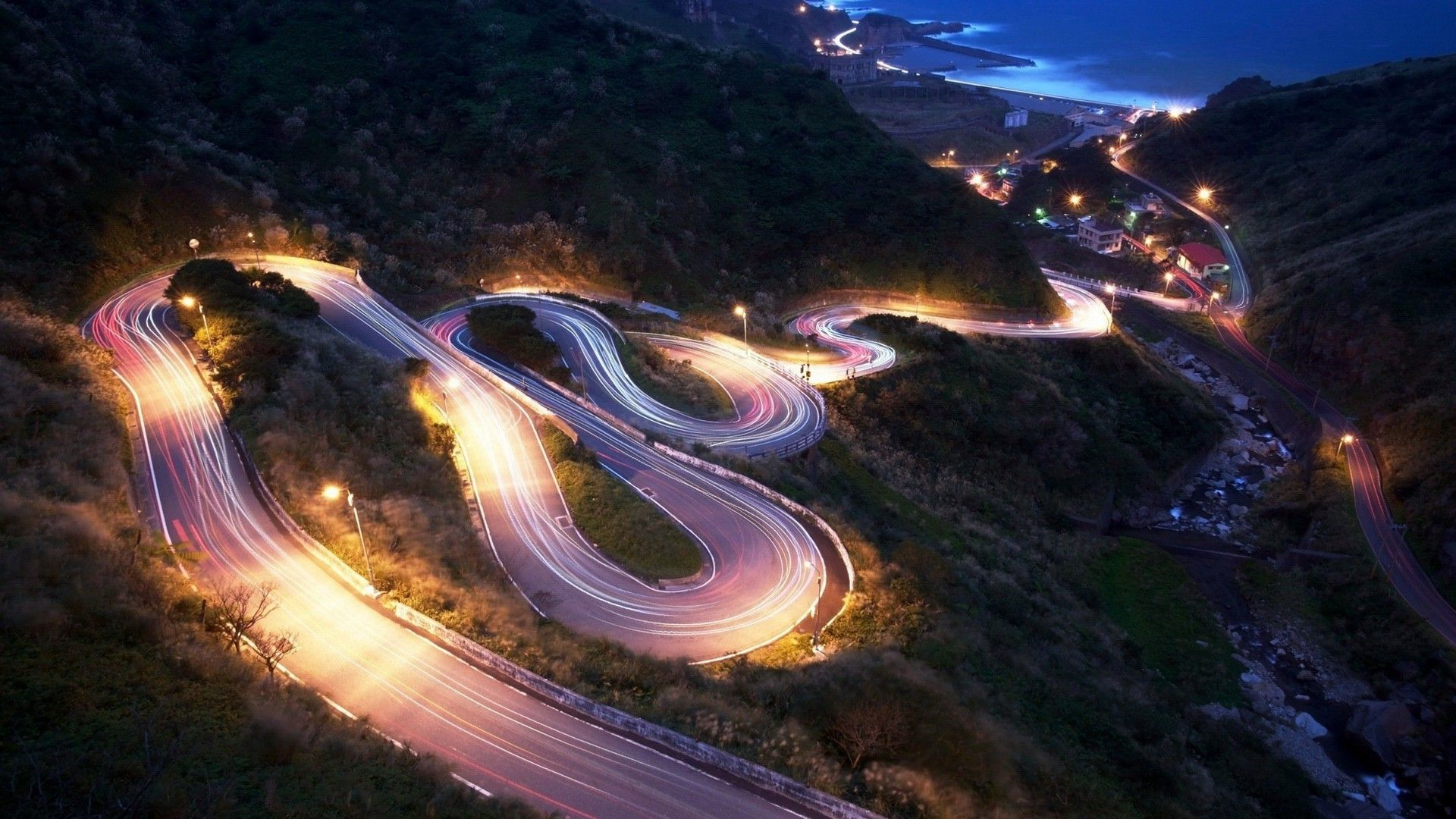 cityscapes streets cars Drift roads photograph / 1920x1080