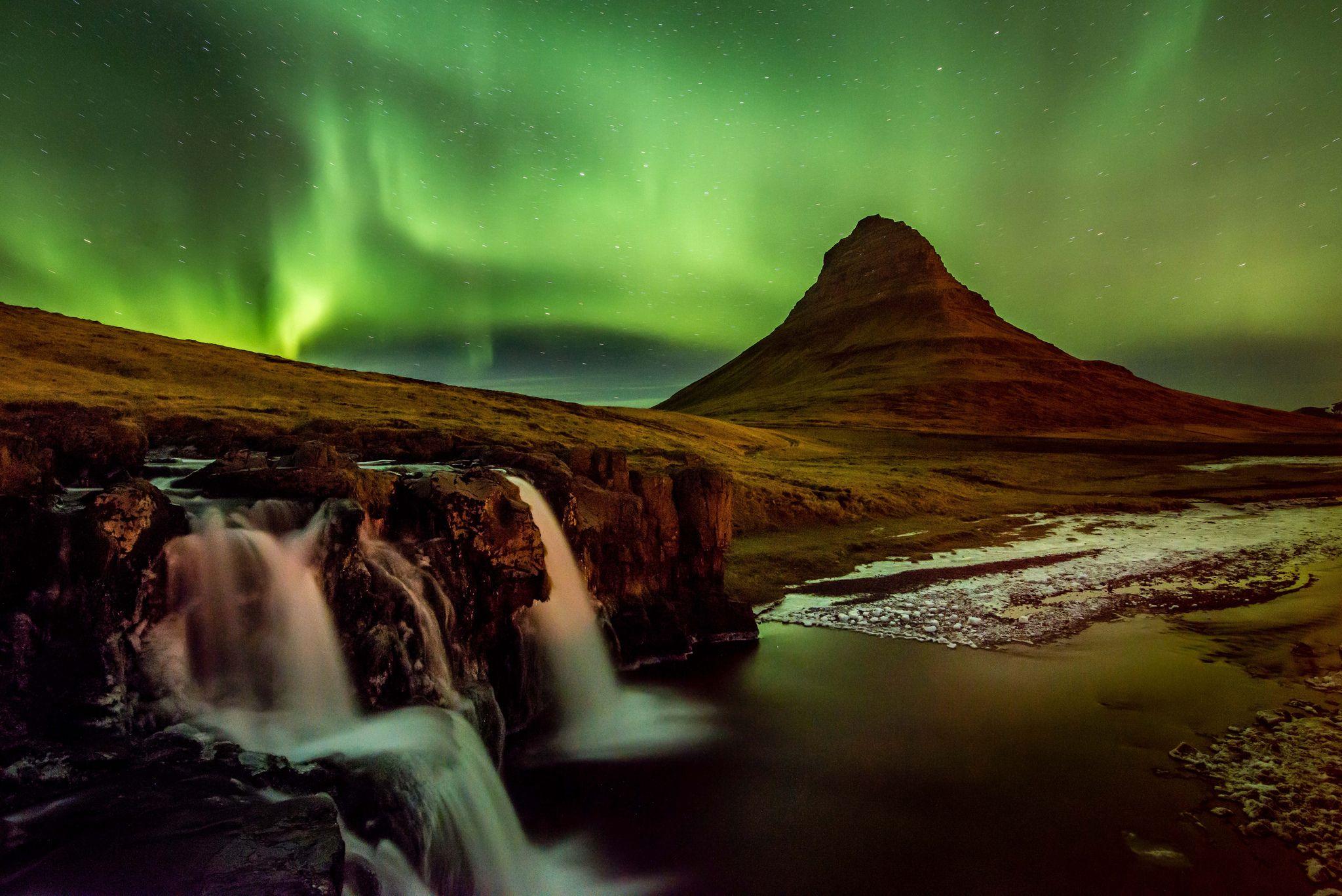 Terrenature Aurore Boréale Fond Décran Aurora Iceland
