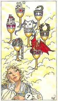 Robin Wood, Tarot Deck, 7 of cups
