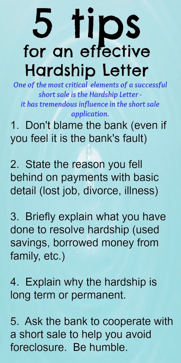 Whether It Be A Short Sale Or A Loan Modification The Hardship