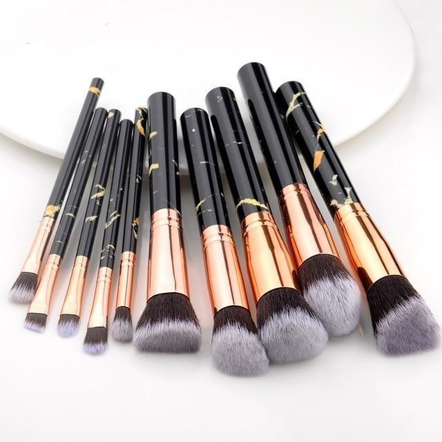 5 / 15Stk Make-up Pinsel Set – 10Stk schwarz
