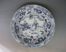 Chinese Antique Oriental Old Da Qing QianLong Dynasty Blue&White Porcelain…