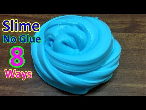 Must try real 8 ways no glue slime recipes no glue no 3 ways no glue fluffy slime recipes how to make fluffy slime without shaving cream no borax ccuart Choice Image