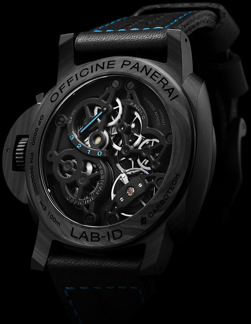 Panerai PAM 700 LAB-ID Luminor 1950 Carbotech 3 Days - caseback - Perpetuelle