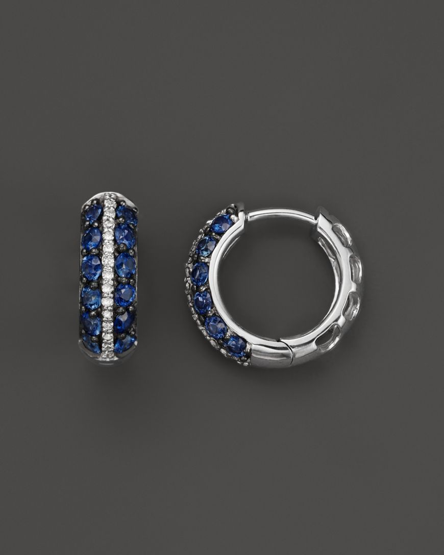 Blue Dyed Sapphire Silver Plated 7 Grams Earring 1.5 Handmade Jewellry Trending