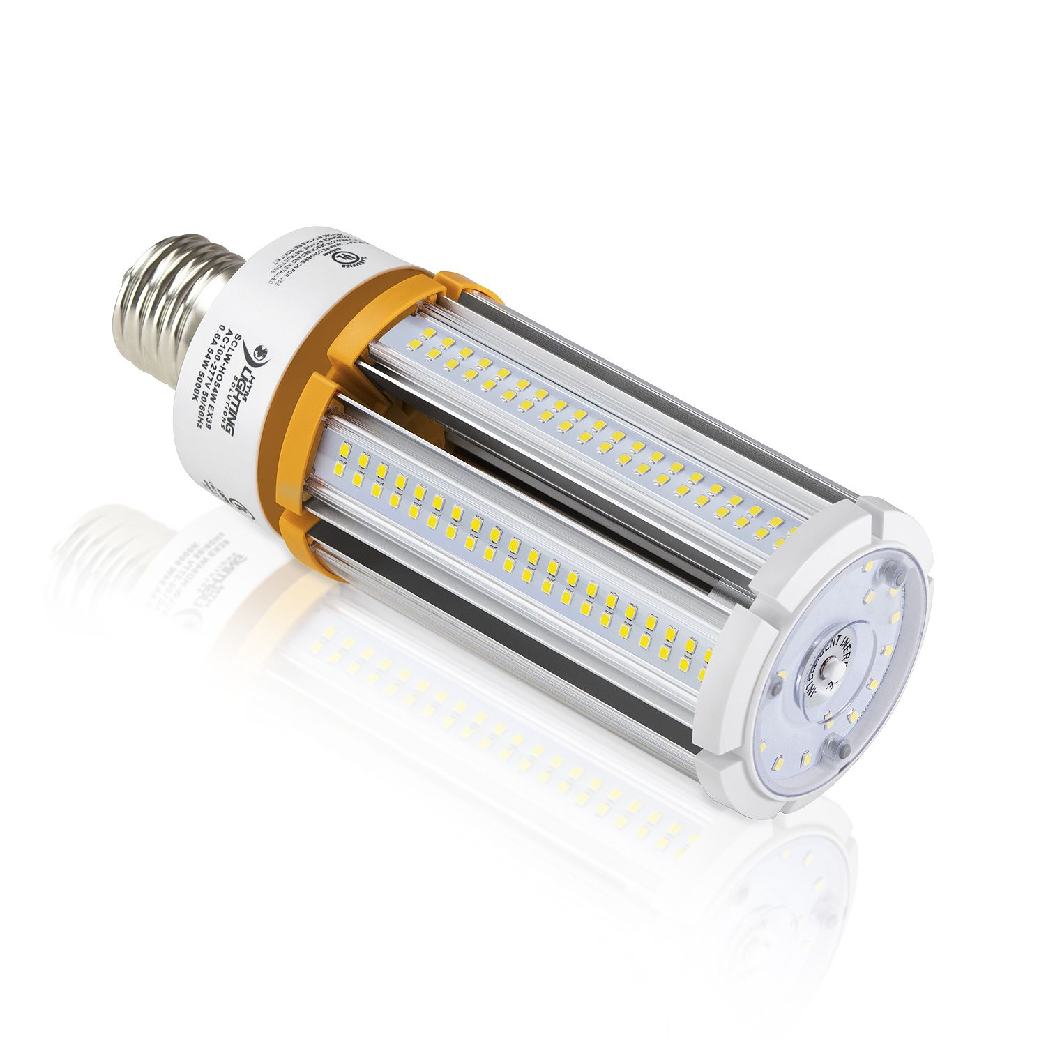 54w Led Corn Light 250w Mh Equal 8100lm Ex39 Base Compact Fluorescent Bulbs Led Lighting Solutions