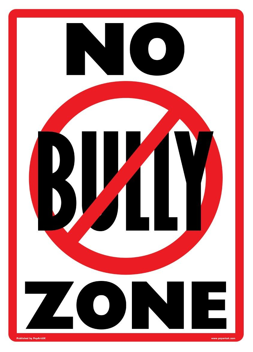 New No Bully Zone Playground Rules Poster | Bullying posters, Clip art,  Bullying