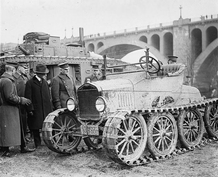 Just a Car Guy: Real unusual things from trailer washers, motorized wheels, to tank track Rolls Royces