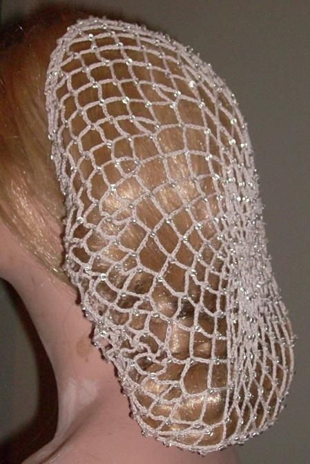 How to Crochet a Snood   1857Beaded Snood/Hairnet – This snood is ...