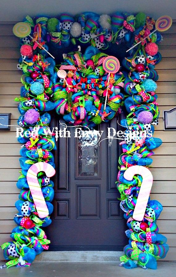 Sale Whimsical Christmas Wreath And Garland By Redwithenvydesigns